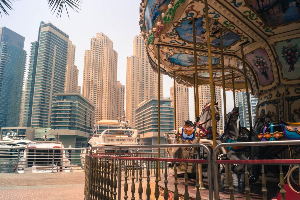 Dubai Karussel Hochhaeuser