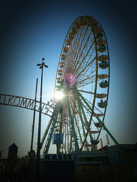 Riesenrad Bremen Osterwiese Foto