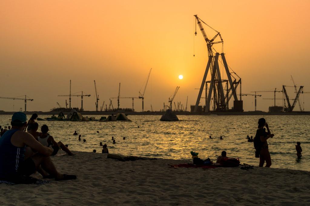 Dubai Sonnenuntergang Strand 2015