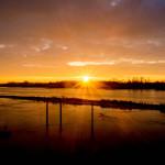 Sonnenaufgang Elbe